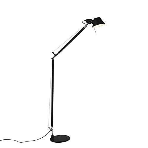 Artemide Design Artemide Tolomeo Lettura Stehleuchte/Stehlampe/Standleuchte/Lampe/Leuchte schwarz/Innenbeleuchtung/Wohnzimmerlampe/Schlafzimmer Aluminium Andere LED geeignet E27 Max. 1 x