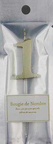 FBAMTGL-01 MTナンバーキャンドル 1番 ゴールド