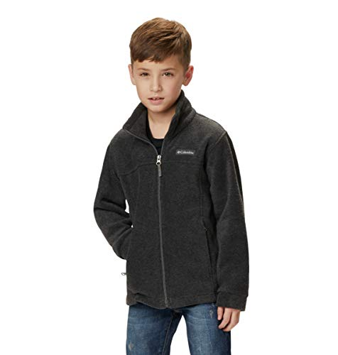 Columbia Boys Steens MT II Fleece Jacket, Charcoal Heather, Large