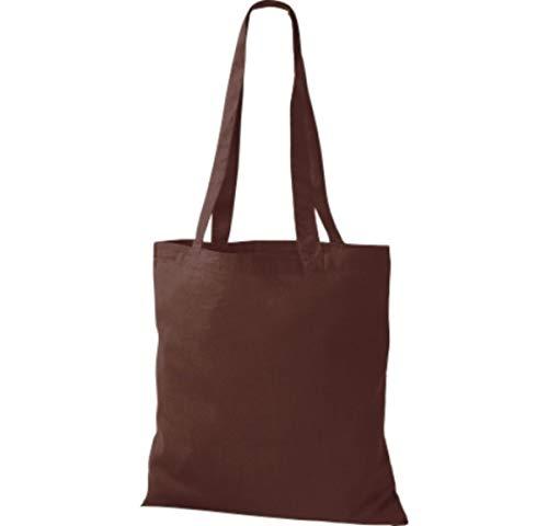 Shirtinstyle - Bolso de tela para mujer marrón chocolate
