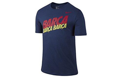 NIKE Shirt FC Barcelona Core Type - Camiseta de Running para Hombre, Color Azul, Talla L