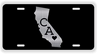JMM Industries California State Love CA ♥ Vanity Novelty License Plate Tag Metal 12-Inches by 6-Inches Etched Aluminum UV Resistant ELP053