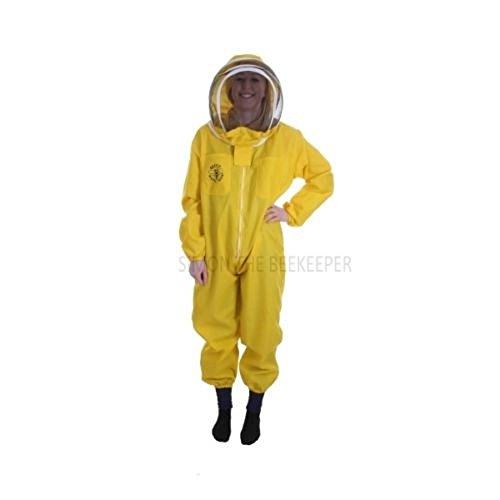 Buzz Basic Combinaison d'apiculteur avec voile et gants Jaune Taille M