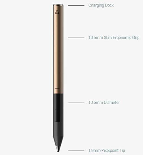 Adonit Pixel Eingabestift für iOS Geräte - (z.B. iPad / Air / mini und iPhone SE 2020 / 11 / Pro / Max) - [Fine-Point-Stylus, 1,9mm Spitze, präzise Eingabe, lange Akkulaufzeit, Bluetooth] - schwarz