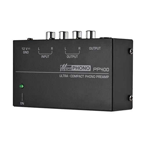 Flashing Preamplificador De Preamplificador De Fono Ultracompacto con Interfaces TRS RCA De 1/4 Pulgadas Preamplificador De Preamplificador De Fono