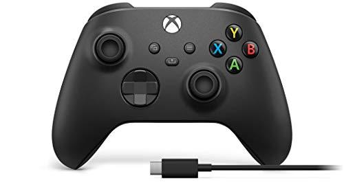 Microsoft Controller Wireless per Xbox, Nero Carbone + Cavo USB-C
