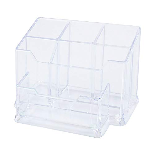 Leviatan Strong No. 0100 Acryl-Stifteköcher Tisch-Organizer Schreibtisch Organisator Schreibtisch Stifthalter Multifunktions -Organisator glasklar transparent