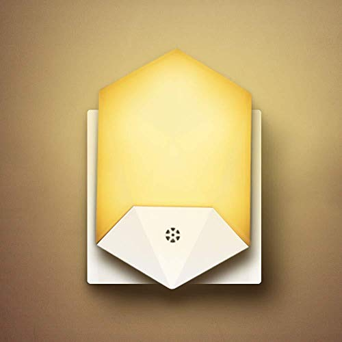 WHCCL Led-nachtlampje, nachtlampje voor het aansluiten met foto-elektrische sensor bij schemering, nachtlampje voor het aansluiten op de muur voor kinderkamer, hal, trap