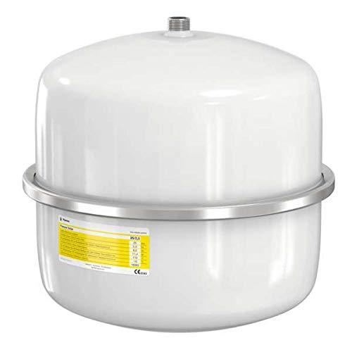 Flamco 16061 Flexcon Solar Ausdehnungsgefäß, 12 L, 2,5 bar für Solaranlagen, weiß