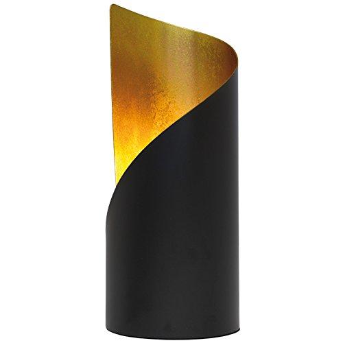 Tischleuchte Tischlampe Metall schwarz/gold 1 x E14/28W (schwarz/gold)