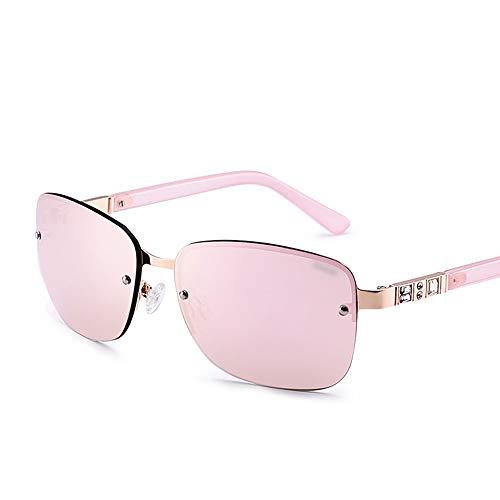 WOYBAOF Gafas de Sol Casuales al Aire Libre cuadradas para Mujeres con Lentes polarizadas de Gama Alta Gafas de Sol polarizadas, diseño de Moda clásico, protección UV (Color : C4)