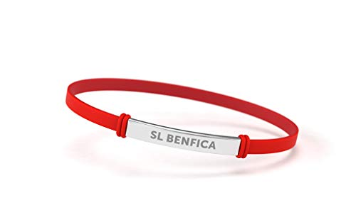 Sport Lisboa e Benfica Pulseira Fashion Vermelha Júnior para Mulher e Criança | Pulseira de Silicone e Aço Inoxidable | Apoie o Benfica com um Produto Oficial | SLB