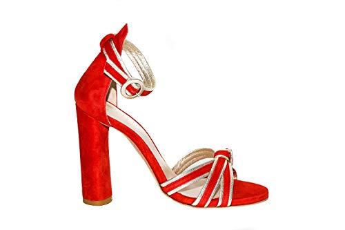 Noa Sandalo Camoscio D24342 A-e19, Rot - rot - Größe: 36 EU