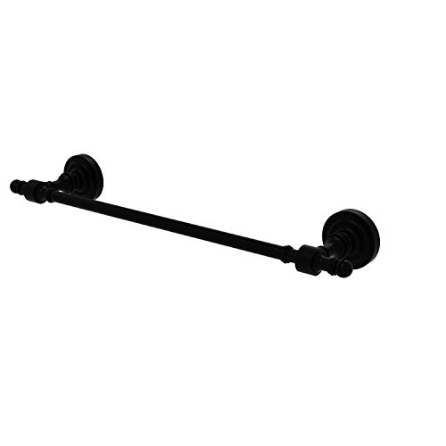 Allied Brass RD-31/18 Retro Dot Collection 18 Inch Towel Bar, Matte Black