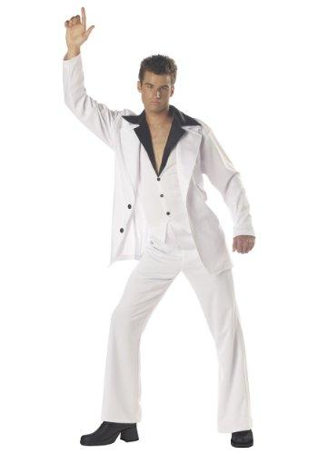 California Costumes Men's Saturday Night Fever Costume, White/Black, Large