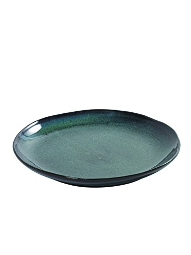 Serax Teller Dessertteller Frühstücksteller Kuchenteller, Keramik, grün-weiß, grün oder blau gepunktet, ø 22 cm (grün gepunktet)