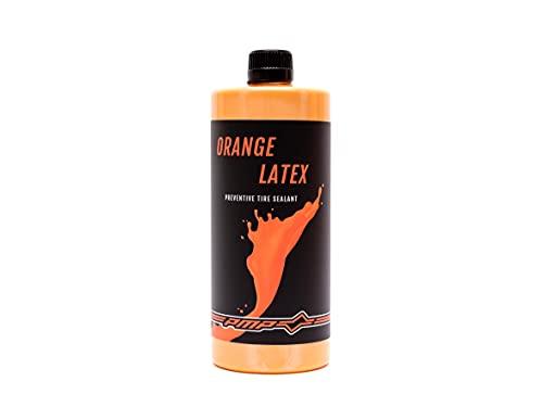 PMP Orange Latex - Líquido Sellante Antipinchazos para Neumáticos Tubeless. Ecológico, Concentrado y Inmediatamente Efectivo hasta 6 Meses de Uso. Botella 1000 ml