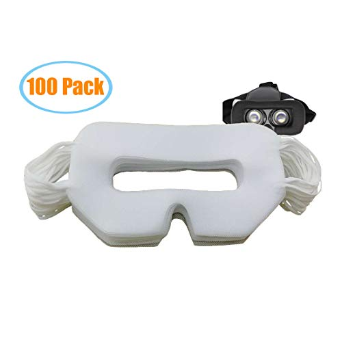 100 pcs White Universal VR-Mask for Better Sweat Absorption, VR Device Padded Face Protection Film.