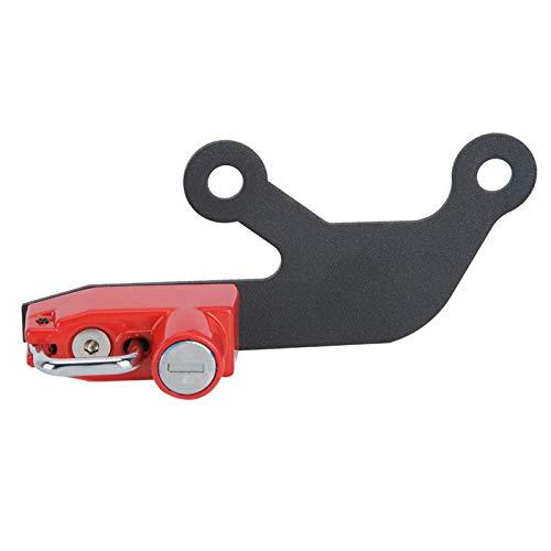 Casco de bloqueo -Theft Lock Aleación de aluminio Accesorio de motocicleta para Ninja 650 Z 650 (rojo)