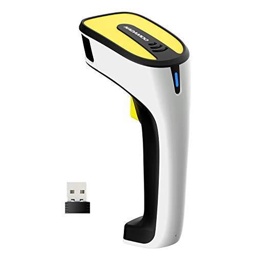 NADAMOO QR Code Scanner Wireless 2D Barcode Scanner Support Screen Scanning Handheld CMOS Imager Portable USB Bar Code Reader with Auto Sensing, Read 1D 2D QR Code PDF417 for Inventory Library 3d barcode scanner