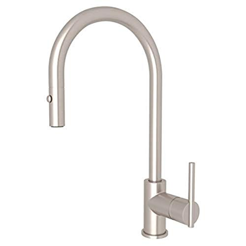 Rohl CY57L-STN-2 Pull-Down FAUCETS, 0-in L x 1.7-in W x 16-in H, Satin Nickel