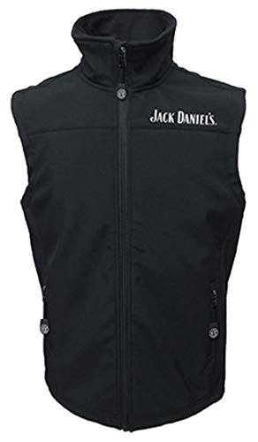 Jack Daniels Men's Daniel's Old No 7 Softshell Vest Black Medium