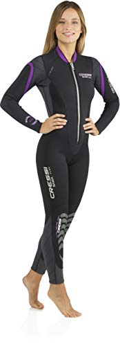 Cressi Lady Front-Zip Full Wetsuit for Water Activities - Bahia & new Bahia Flex