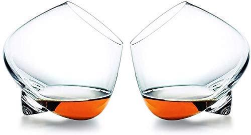 Copas de cóctel, Dispensador de Botellas de Licor Vidrio de Cristal de Moda para Beber Scotch, borbón, irlandés, Cerveza, cócteles Copas de Vino Tazas de Bebidas Whiskey Set de Regalo