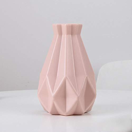 ZXHW JarronesVaso di Fiori moderni Vaso domestico Flower Disposizione Soggiorno Origami Plastica Plastica Stile Nordico Decorazione Domestica Ornamento Home Decor Vendita calda-3505 Rosa.
