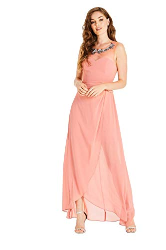 Little Mistress Vrouwen Jurk Carrie Orange Hand-Embellished Maxi Dress