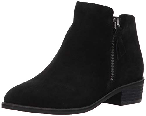 Blondo womens Liam Waterproof Ankle Boot, Black Suede, 7.5 US