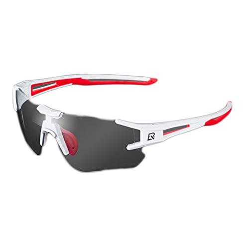 HEWXWX Gafas de Sol de Ciclismo fotocromáticas Gafas de Bicicleta, con Marco...