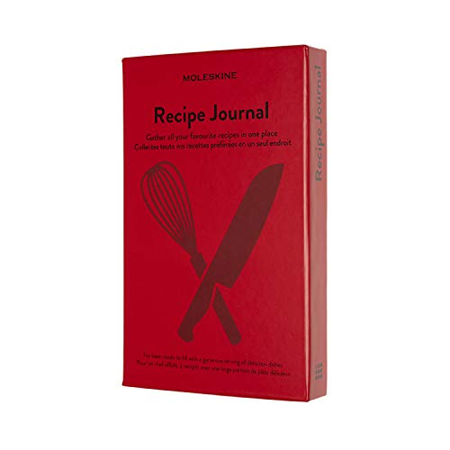 Moleskine Passion Journal, Recipe, Hard Cover, Large (5' x 8.25') Scarlet Red