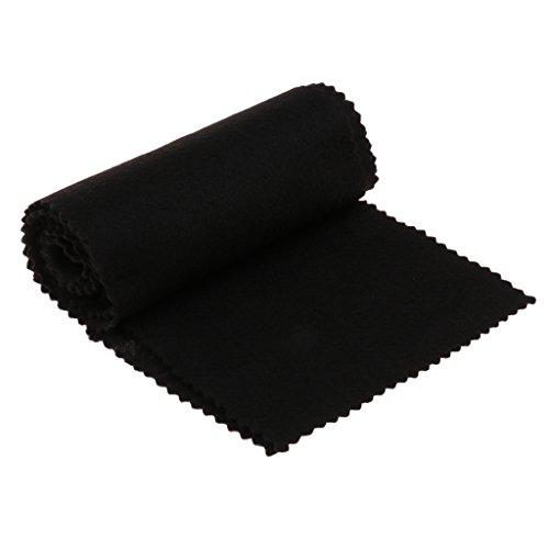 Klaviertastatur Schützende Abdeckung Tastatur Reinigungstuch aus Flanell - Schwarz