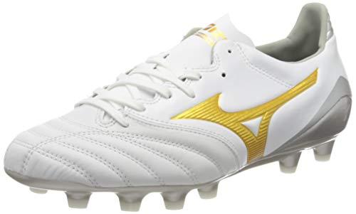 Mizuno Morelia Neo Kl II, Scarpe da Calcio Uomo, Bianco (White/Gold 50), 44 EU