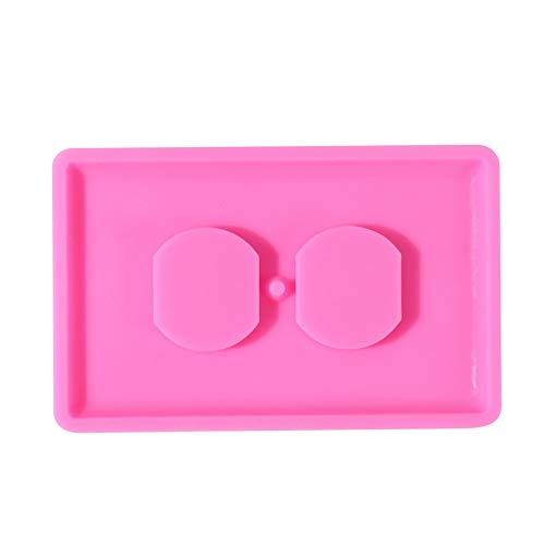 MAJFK Silicone Molds Jewelry Casting Molds DIY Epoxy Resin Mold Pendant Making Mold for Pendant Key Chain Handmade Mould Craft DIY Jewelry Epoxy,Pink P1344