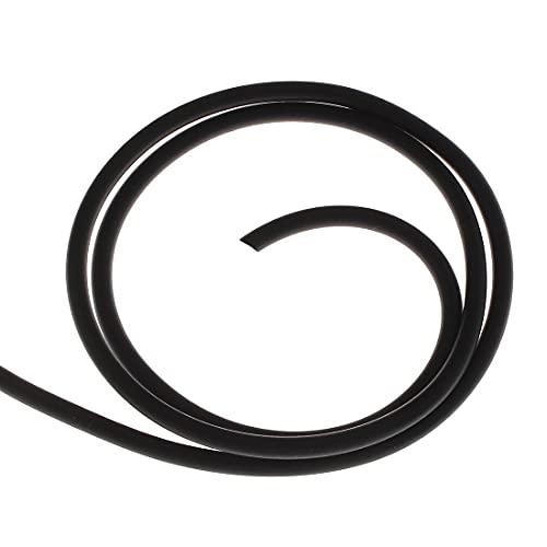 Perlin - 10 Meter Kautschukband 5mm Kunstleder Schwarz Kautschukschnur Schmuckband Kette Set Band für Halsketten DIY Schmuck Herstellung C10 x2
