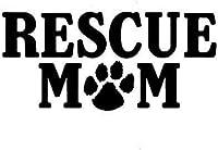 救助ママ犬子犬の足車の自動車ウィンドウ品質ビニールデカールステッカーカースタイリングブラックスリヴァー16.5cmの* 7.7CMの2個、ブラック16.5cmの* 7.7CM Rebirtha (Color : Black, Size : 16.5CM*7.7CM)