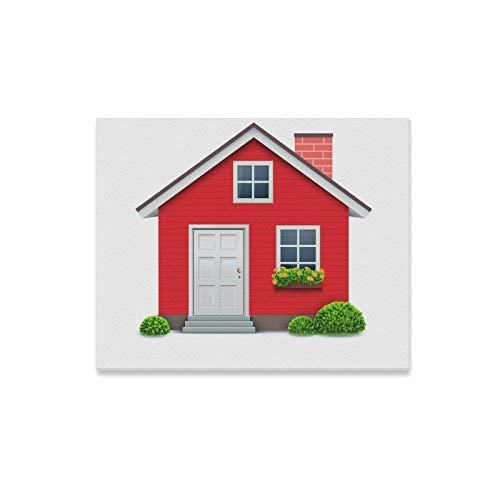 LONGYUU Wandkunst für die Küche Sauber Komfortable kleine Hausfarben Wand Esszimmer Wandkunst Dekor Druck Dekor für Zuhause 20x16 Zoll