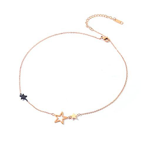 Chockers De Estrellas Collares para Mujer Aleación Hipoalergénica Collar De Cadena De Extensión Ajustable Aniversario Cumpleaños Día De La Madre Joyería Regalos para Mamá Ella para Esposa