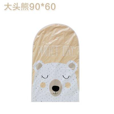 SHUCV Home ropa polvo cubierta sello abrigo traje campana bolsillos ropa armario ropa bolsillo a bolsillo, 130 x 60 cm, osos de cabeza 90 x 60