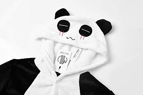 Matt Viggo Costume Cartoon Animal Onesie Pajamas for Kids One Piece Christmas Halloween Cosplay Dress Up Party, Panda,130