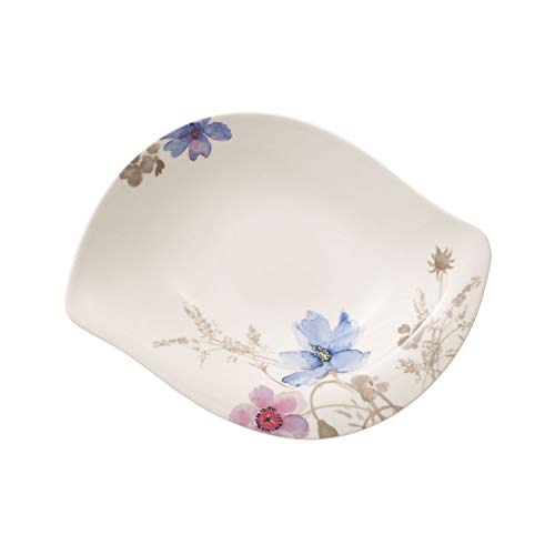 Villeroy & Boch Mariefleur Gris Serve & Salad Coupelle creuse, 29 cm, Porcelaine Premium, Blanc/Multicolore