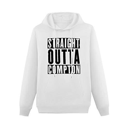 CANGLONG Teenager PrintedPulloverHoodies Straight Outta Compton Nerdy Long Sleeve Sweatshirts White XS
