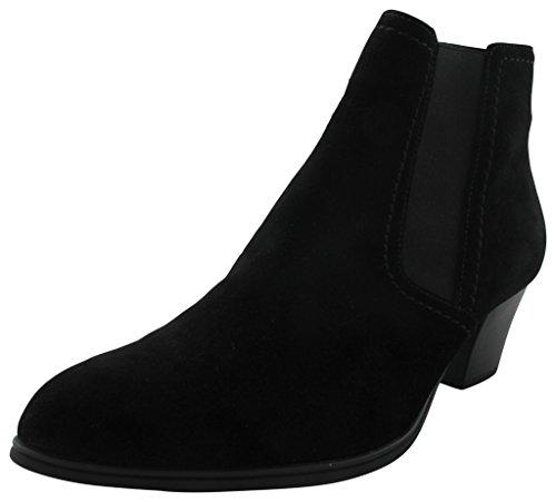 Gabor Fashion 31.684.17 Damen Stiefel/Stiefelette (Ankle Boots/Schlupfstiefel) mit Reißverschluss Leder Schwarz, EU 42