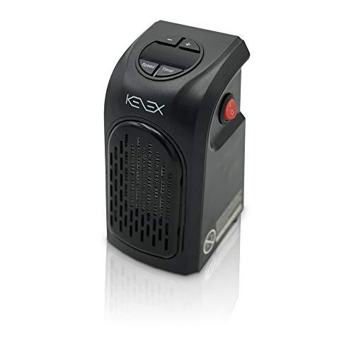 Kenex   Calefactor Portátil Handy Heater  KNA 136   Cuadrado   Calefactor Bajo Consumo   Calienta en Pocos Minutos   Funcionamiento Silencioso   Con Pantalla LED   Estufa Eléctrica   Color Negro