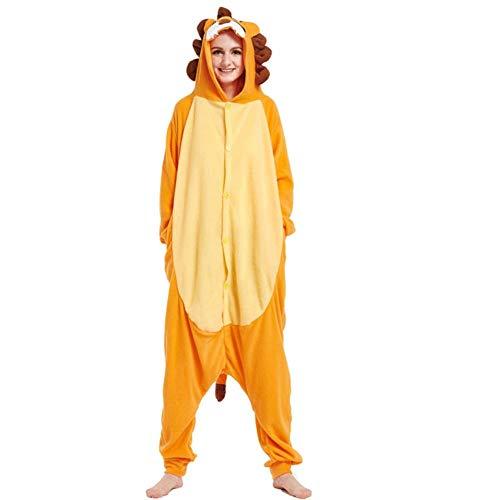FZH Pijama Tortuga Kigurumis Animal Onesie Adulto Unisex Pijama de Tortuga Verde en General Mujeres Ropa de Dormir Divertida Festival Halloween Carnaval Traje-león_L.