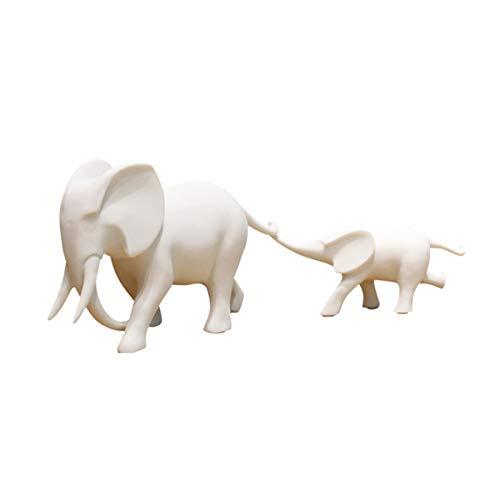 Escultura Ornamentos Un par de adornos de elefante Gabinete de TV de la sala de estar Entrada Cabineta de vino creativo Habitación para niños Elefante Estatua Decoración Regalo de la casa Decoración d