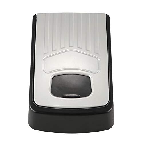 OVBBESS Caja de llaves de 4 dígitos con combinación ajustable de contraseña, caja de seguridad premium organizador de bloqueo de seguridad montado en la pared, color gris