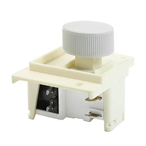 New Lon0167 Interrupteur d'alimentation En vedette de verrouillage efficacité fiable bouton rond 4P 220 / 240VAC 6A pour machine à laver Royalstar(id:4b0 fb 9e 60d)